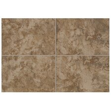 "Natural Pavin Stone 12"" x 3"" Bullnose Tile Trim in Brown Suede"