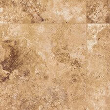 <strong>Mohawk Flooring</strong> Earthwork Palazzo 8mm Cross Cut Travertine Laminate in Tuscan Gold