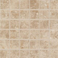 "Rustic Steppington 2"" x 2"" Mosaic Floor Tile in Traditional Taupe"