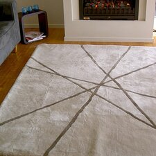 Design Sheepskin Lines White Area Rug