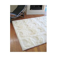 Shortwool Solar White Crescent Design Rug