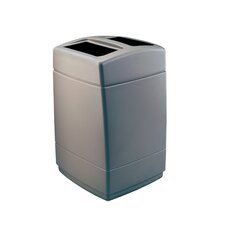 PolyTec 55 Gallon Square Waste Container