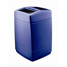 PolyTec Square 55 Gallon Multi Compartment Recycling Bin