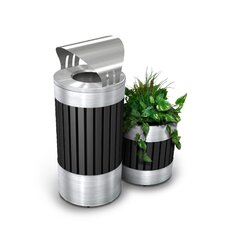 Riverview Canopy Top Trash Receptacle