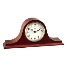 <strong>Hermle Black Forest Clocks</strong> 4Tambour Clock in Cherry with Ivory Colored Dial