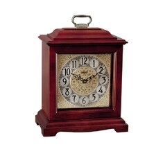 <strong>Hermle Black Forest Clocks</strong> American Styled Bracket Quartz Operated Mantel Clock in Cherry