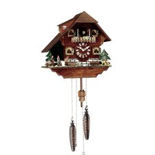 Cuckoo Clock with Four Dancing Figurines
