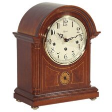 <strong>Hermle Black Forest Clocks</strong> Barrister Styled Mechanical Operated Mantel Clock in Mahogany
