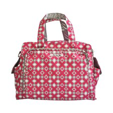 Be Prepared Messenger Diaper Bag in Pink Pinwheels