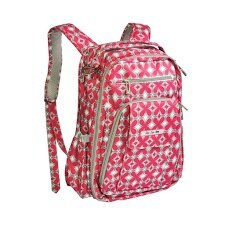 <strong>Ju Ju Be</strong> Be Right Back Backpack Diaper Bag in Pink Pinwheels