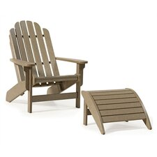 Bayfront Adirondack Chair with Adirondack Footrest