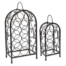 Set/2 Nesting Matte Black Wine Racks
