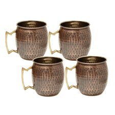 Moscow Hammered Mule Mug 16 Oz (Set of 4)