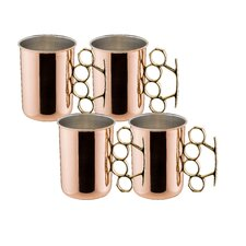 Moscow Mule 20 oz. Brass Knuckle Mug (Set of 4)