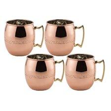 "Moscow Mule 16 oz. ""Congratulations!"" Solid Copper Mug (Set of 4)"