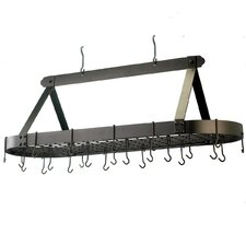 <strong>Old Dutch International</strong> Oval Pot Rack with 24 Hooks