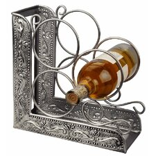 <strong>Old Dutch International</strong> Victoria Embossed 3 Bottle Tabletop Wine Rack