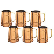 "<strong>Old Dutch International</strong> Copper 4.5"" Tankard (Set of 6)"