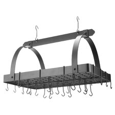 <strong>Old Dutch International</strong> Decor Pot Rack with Grid and Hooks