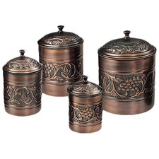 Antique Heritage Canister (Set of 4)