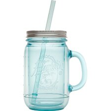 Classic Mason Pitcher with Lid & Straw