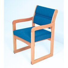 <strong>Wooden Mallet</strong> Valley Guest Chair with Designer Fabric