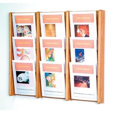 <strong>Wooden Mallet</strong> Nine Pocket Acrylic and Oak Wall Display