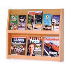 <strong>Wooden Mallet</strong> Six Magazine and Twelve Brochure Wall Display