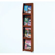 Four Magazine and Eight Brochure Wall Display with Optional Floor Stand