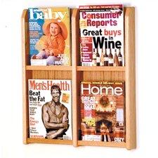 4 Pocket Magazine Wall Display