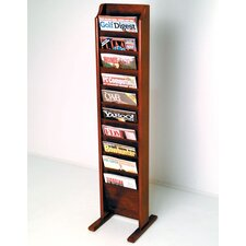 10 Pocket Free Standing Magazine Rack