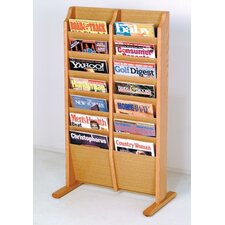 Free Standing Fourteen Pocket Magazine Rack