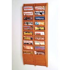 20 Pocket Wall Mount Magazine Rack