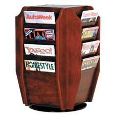 <strong>Wooden Mallet</strong> Countertop Sixteen Magazine Rotary Display