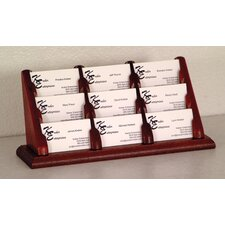 <strong>Wooden Mallet</strong> Nine Pocket Counter Top Business Card Holder