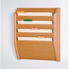 <strong>Wooden Mallet</strong> Four Pocket Legal Size File Holder