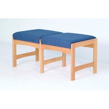 <strong>Wooden Mallet</strong> Dakota Wave Two Seat Bench with Designer Fabric