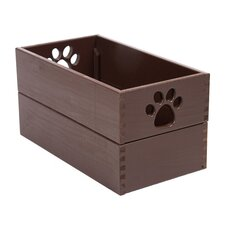 Pet Toy Box in Mahogany