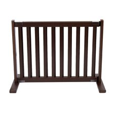"20"" All Wood Small Free Standing Pet Gate in Mahogany"