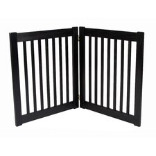 "Two 27"" Panel Free Standing EZ Pet Gate in Black"