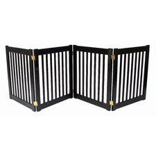 "Four 27"" Panel Free Standing Pet Gate in Black"