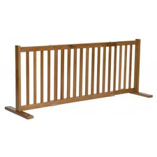 "20"" All Wood Large Free Standing Pet Gate in Artisan Bronze"