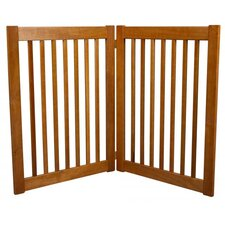"Two 32"" Panel Free Standing Pet Gate in Artisan Bronze"