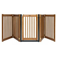 "32"" Walk Through 5 Free Standing Pet Gate in Artisan Bronze"
