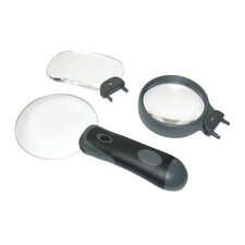 3-in-1 LED Removable Lens Magnifier Set
