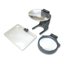 Hobby Magnifier 3-in-1 LED Lighted Hands Free Magnifier Set