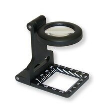 Metal LinenTest 7x20mm Metal Magnifier with Pouch