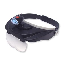 <strong>Carson</strong> MagniVisor Deluxe LED Lighted Head Visor Magnifier with Multiple Magnifications