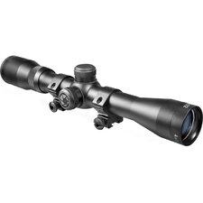 "4x32 Plinker-22 Riflescope, Black Matte, 30/30, with 3/8"" Dovetail Rings, Clam"