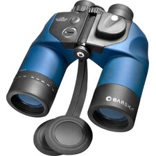 7x50 WP Deep Sea Porro Binoculars, with Internal Rangefinder and Compass, Bak-4, Blue Lens